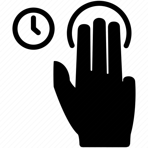 fingers, gesture, hand, hold, three, touch icon