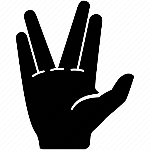 Communication, gesture, hand, salute, vulcan icon - Download on Iconfinder