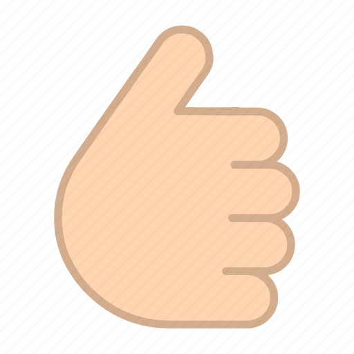 fingers, gestures, hands, like, thumb up icon
