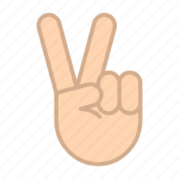 fingers, gestures, hands, peace, victory, win, winner icon