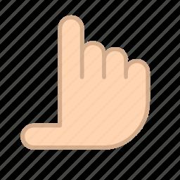 fingers, gestures, hands, measure icon