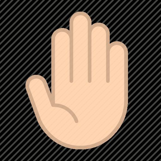fingers, five, gestures, hands, numbers icon