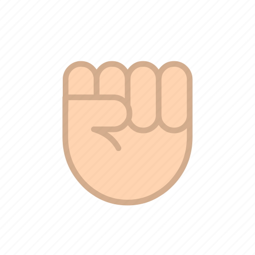 clenched, fingers, freedom, gestures, hands, independence, punch icon