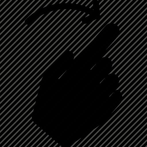 gesture, hand, interaction, right, slide, swipe, tutorial icon