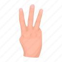 brush, combination, finger, gesture, hand, palm, sign icon
