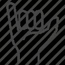 shaka, fingers, hand, greeting, gesture, sign, hawaiian
