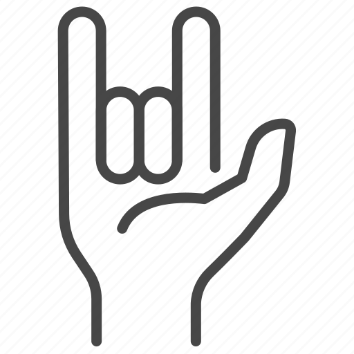 fingers, gesture, hand, love, rock, sign icon