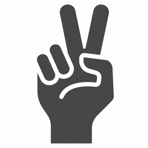 fingers, gesture, hand, sign, two, victory, win icon