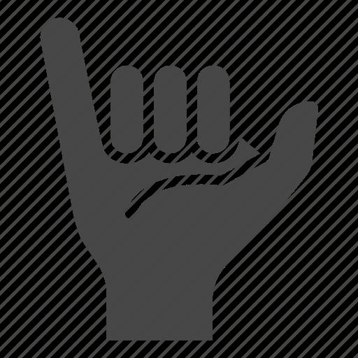 fingers, gesture, greeting, hand, hawaiian, shaka, sign icon