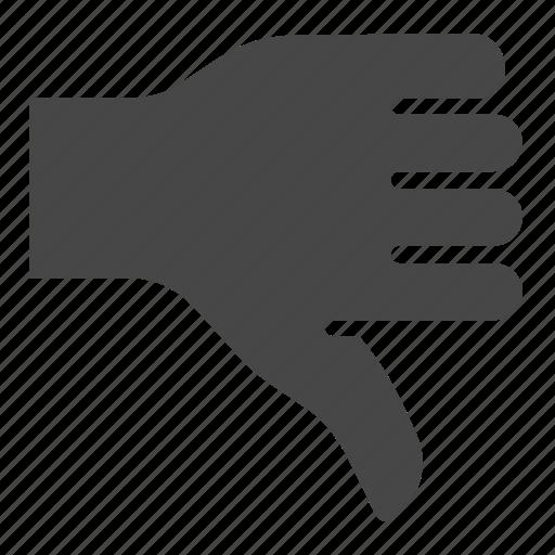 dislike, hand, hate, sign, suck, thumb down, unlike icon