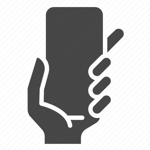 device, fingers, gesture, hand, hold, mobile, smartphone icon