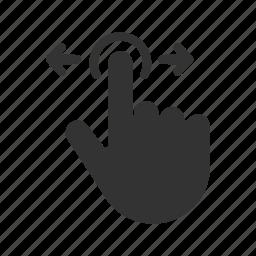 gesture, hand, pointer, slide, swipe, touchscreen icon