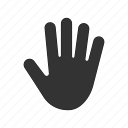 fingers, five, hand gesture, open, palm icon