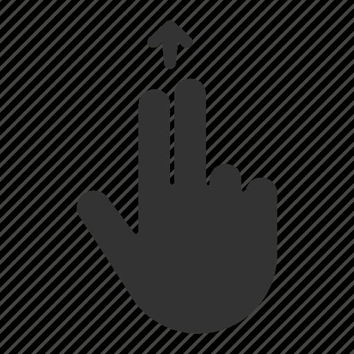 fingers, gesture, hand, swipe, touchscreen icon