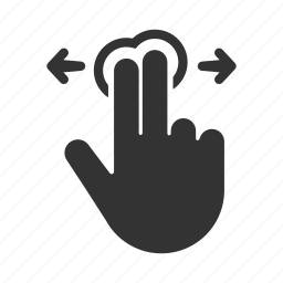 fingers, gesture, hand, swipe, touchscreen icon