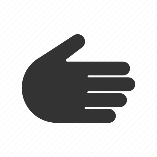 five fingers, grasp, hand gesture, handshake, shake icon