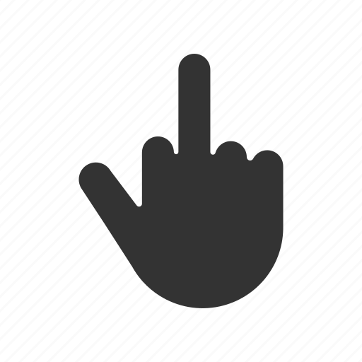 fuck off, fuck you, gesture, hand, middle finger icon