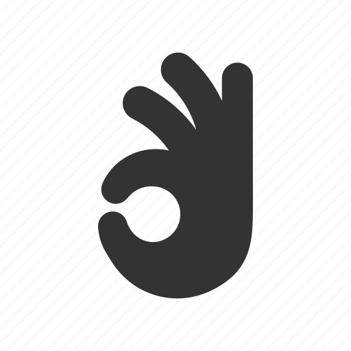 gesture, hand, nice, ok, okay, well done icon