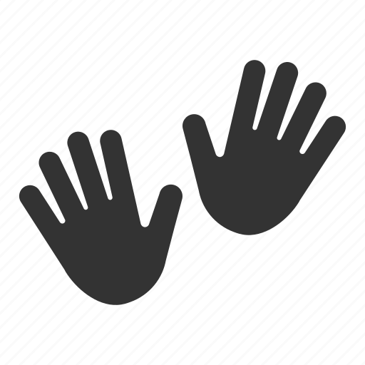 gesture, hand print, hands, open hands, palms icon