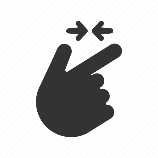 gesture, in, out, swiping, touchscreen, zoom icon