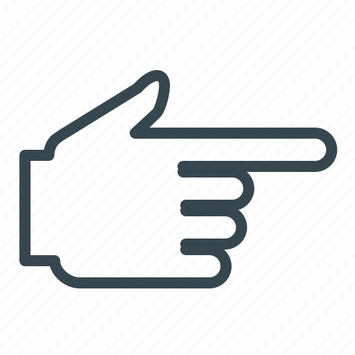 Directions, gesture, hand, point, pointer icon - Download on Iconfinder