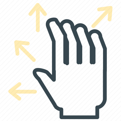 arrows, expand, full, gesture, hand, move icon