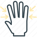 minimize, full, arrows, gesture, hand