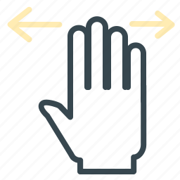 full, gesture, hand, left, move, right icon