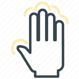 full, gesture, hand, move, tap, touch icon