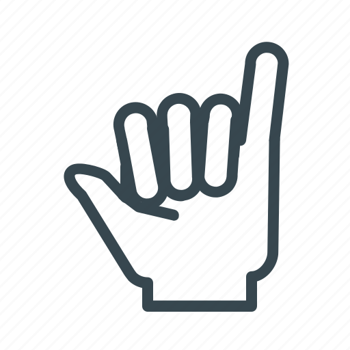 gesture, hand, hang, loose, surfer icon