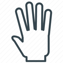 five, gesture, hand, high icon