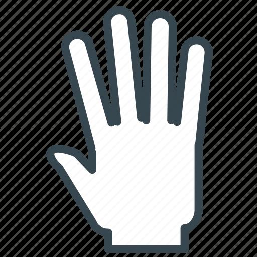 Five, gesture, hand, high icon - Download on Iconfinder