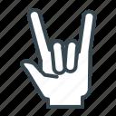 gesture, hand, metal, rock