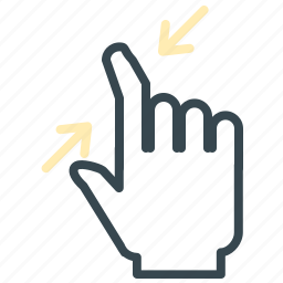 arrows, gesture, hand, minimize, move icon
