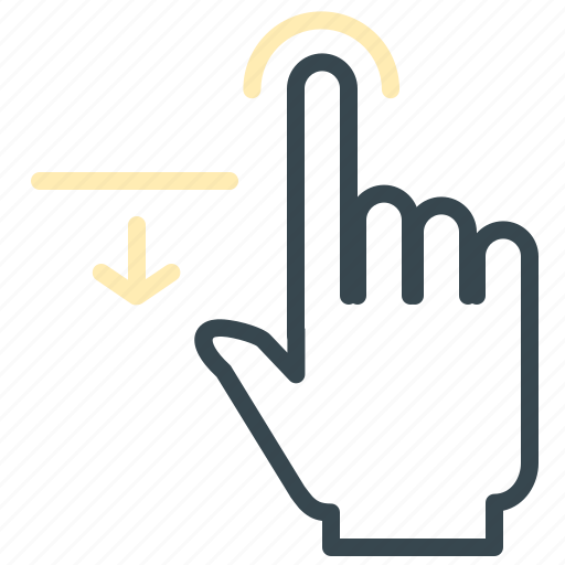 arrow, finger, gesture, hand, move, one icon