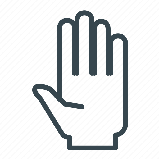 gesture, hand, pause, stop, warning icon