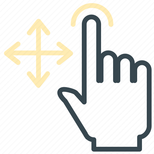 arrows, gesture, hand, move, tap icon