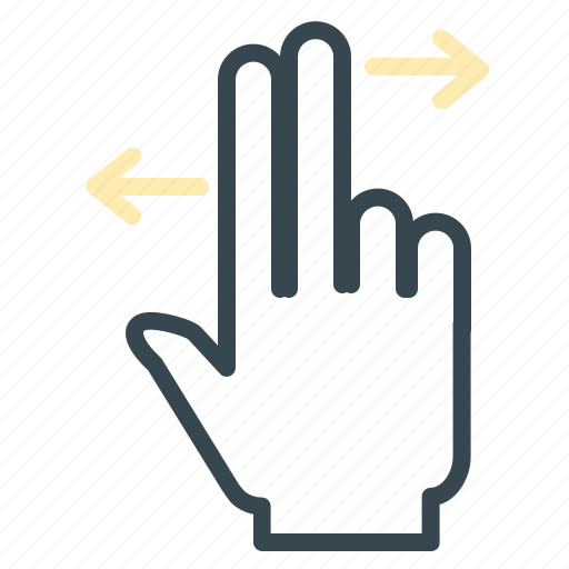 arrows, finger, gesture, hand, move, two icon