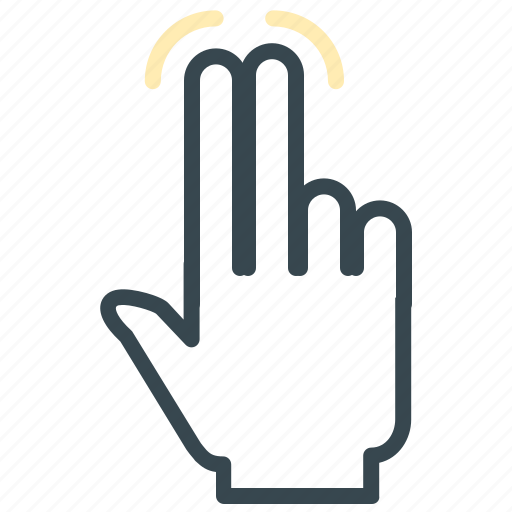finger, gesture, hand, tap, two icon