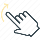 arrow, gesture, hand, move, rotate icon
