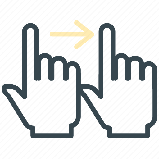 arrow, gesture, hand, move, right icon