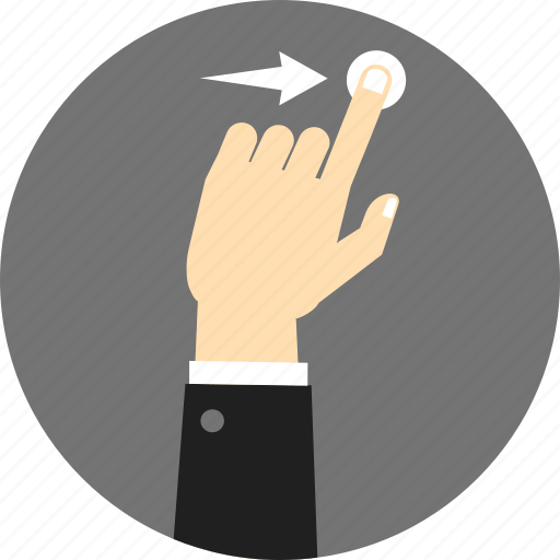 direction, gesture, hold, move, right, swipe, touch icon