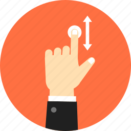 fingers, gesture, hand, scroll, swipe, touch, vertical icon