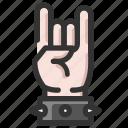 devil, gesture, hand, horns, rock