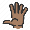 count, five, gesture, hand icon