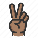 count, gesture, hand, two icon
