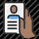 gesture, hand, phone, profile icon