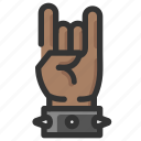 devil, gesture, hand, horns, rock icon