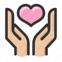 care, gesture, hand, love icon