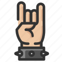 devil, gesture, hand, horns, rock icon